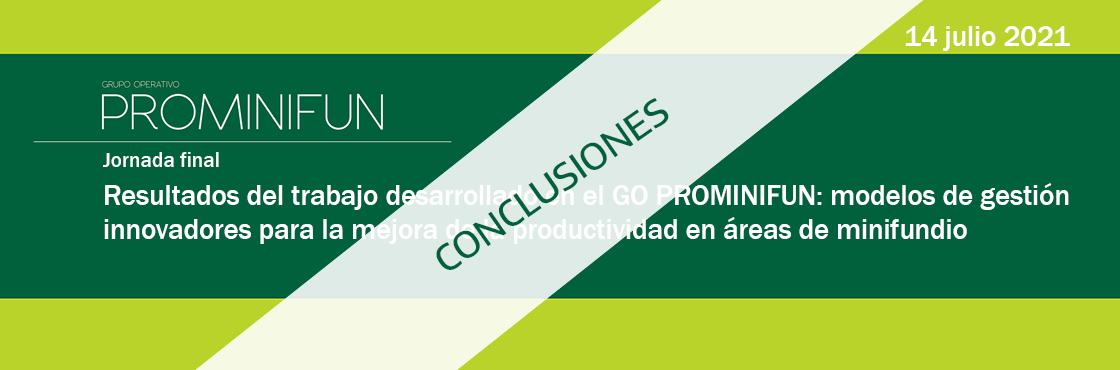 El GO Prominifun propone incentivar los esfuerzos en agrupar aspectos de la gestión del territorio para mejorar su rentabilizad y garantizar su sostenibilidad