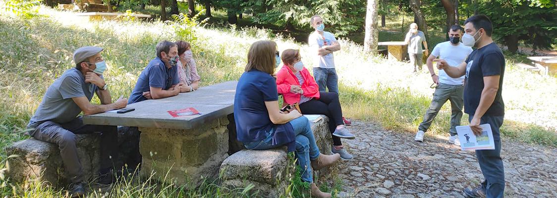 Reunión con propietarios de parcelas de castaños del Alto Ambroz, Hervás (Cáceres)
